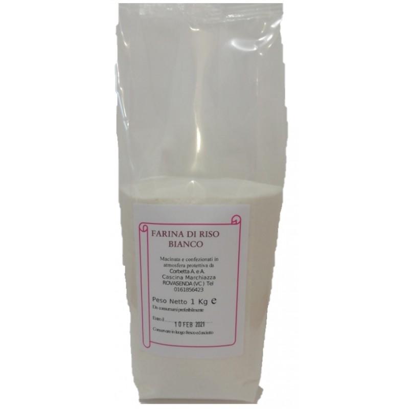 Sacchetto in atmosfera protettiva da 1 Kg di Farina di Riso Bianco  Riso Corbetta
