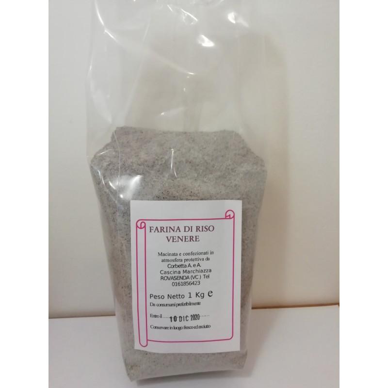 Sacchetto in atmosfera protettiva da 1 kg di farina di riso Venere Riso Corbetta