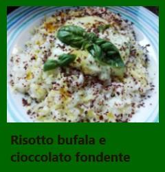 Risotto con mozzarella di bufala e cioccolato fondente
