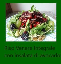 Riso Venere Integrale con insalata di avocado